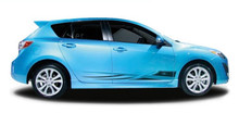 CRUZE : Automotive Vinyl Graphics - Universal Fit Decal Stripes Kit - Pictured with FOUR DOOR HATCHBACK (ILL-849)
