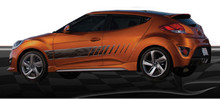 COSMO : Automotive Vinyl Graphics - Universal Fit Decal Stripes Kit - Pictured with HYUNDAI VELOSTER (ILL-875)