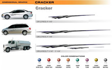 CRACKER Universal Vinyl Graphics Decorative Striping and 3D Decal Kits by Sign Tech Media, Inc. (STM-CR)