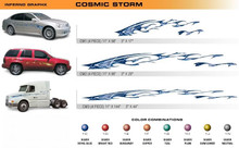 COSMIC STORM Universal Vinyl Graphics Decorative Striping and 3D Decal Kits by Sign Tech Media, Inc. (STM-CM)