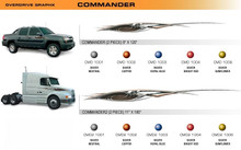 COMMANDER Universal Vinyl Graphics Decorative Striping and 3D Decal Kits by Sign Tech Media, Inc. (STM-CMD)