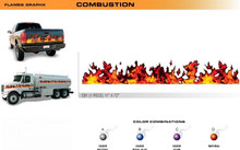 COMBUSTION Universal Vinyl Graphics Decorative Striping and 3D Decal Kits by Sign Tech Media, Inc. (STM-CB1)