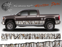 Wild Wood Camouflage : Lower Rocker Panel Graphics Kit 16 inch x 14 foot per side (ILL-1409.050.051.053.054)