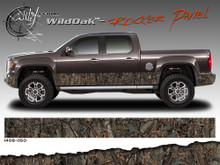 Wild Wood Camouflage : Lower Rocker Panel Graphics Kit 16 inch x 12 foot per side (ILL-1408.050.051.053.054)