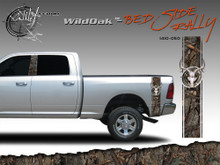 Wild Oak Wild Wood Camouflage : Bed Side Rally with Deer Skull 12 inches x 42 inches (ILL-1410.050)