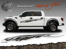 Wild Oak Wild Wood Camouflage : HARVESTER Body Side Vinyl Graphic 9 inches x 96 inches (ILL-1401.050)