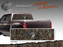 "Wild Oak Wild Wood Camouflage : Rear Window ""See Through"" Film Graphic Kit 24 inches x 65 inches (ILL-1404.050)"