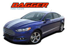 DAGGER : 2013 2014 2015 2016 2017 2018 2019 Ford Fusion Hood and Lower Door Body Vinyl Graphics Decals Stripe Kit (VGP-2266.2267)