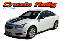 CRUZE RALLY : 2008 2009 2010 2011 2012 2013 2014 Chevy Cruze Cruzin Rally Racing Stripes Hood Trunk Vinyl Graphics Decal Kit (VGP-1633)