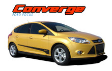 CONVERGE : 2012 2013 2014 2015 2016 2017 Ford Focus Side Door Accent Vinyl Graphics Decals Stripe Kit (VGP-1706)