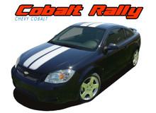 COBALT RALLY : 2005 2006 2007 2008 2009 2010 Chevy Cobalt Rally Racing Stripes Hood Roof Trunk Spoiler Vinyl Graphics Decals Kit (VGP-1398)