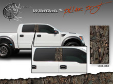 Wild Oak Wild Wood Camouflage : Pillar Post Decal Vinyl Graphic 22 inches x 12 inches (ILL-1403.050)