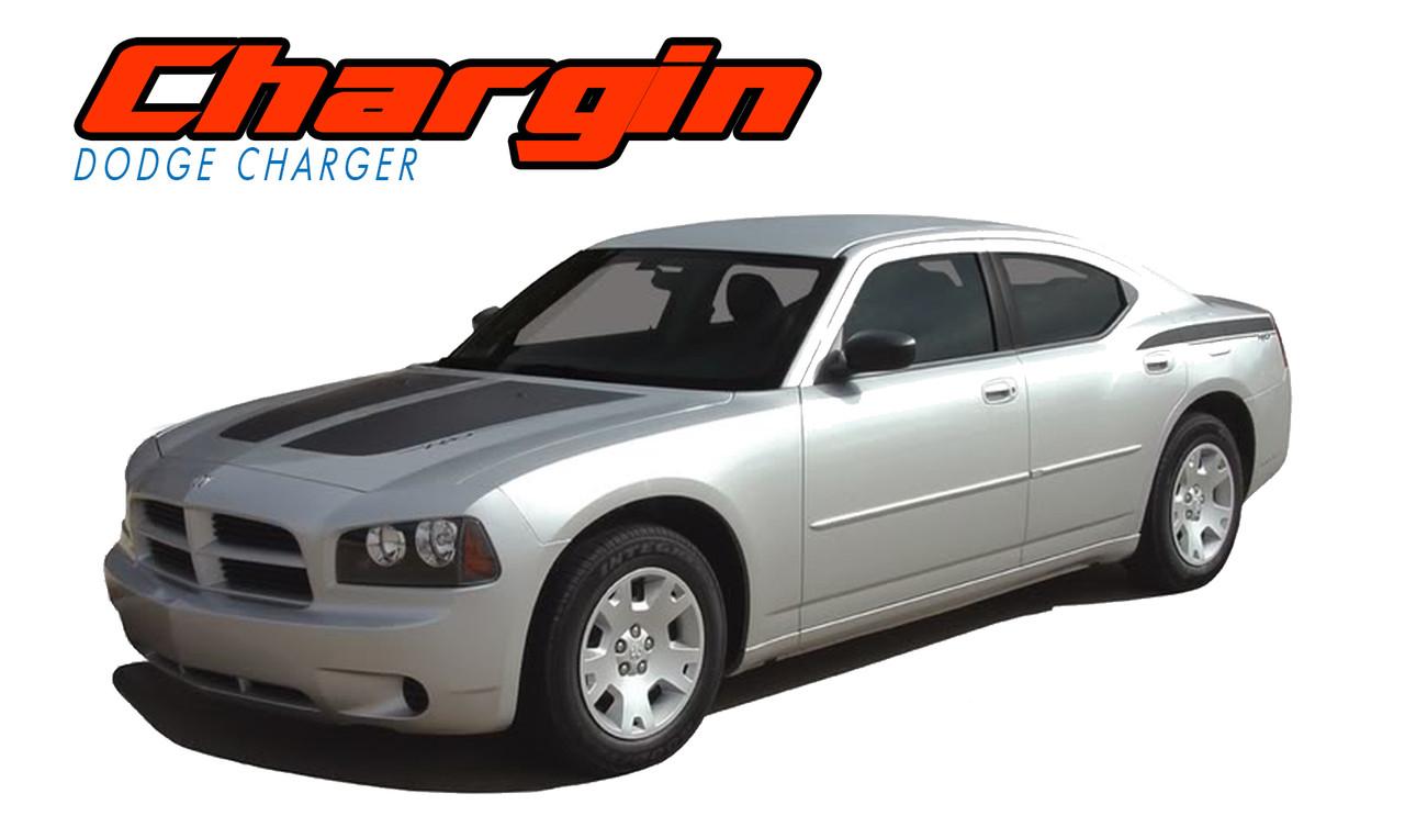 Sticker Decal Vinyl Side Door Stripes for Dodge Charger 2010-2018 SRT Hellcat SE