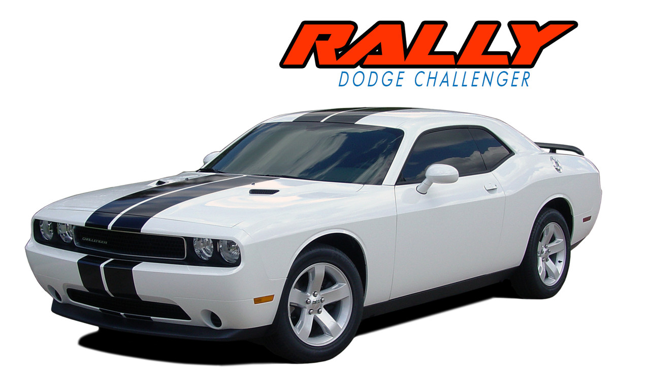"2008-2013 Dodge Challenger 8/"" Rally Racing Stripes Decal Sticker Vinyl Wrap"