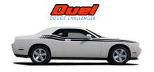 DUEL : 2008 2009 2010 2011 2012 2013 2014 2015 2016 2017 2018 2019 2020 2021 Dodge Challenger Upper Door Split Strobe Vinyl Graphic Decal Stripe Kit (VGP-1431.1644)