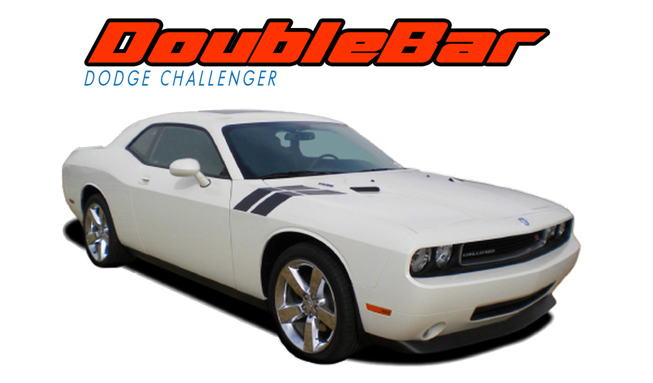 2008-2014 Dodge Challenger Tapered Racing Stripes Double Over the Top Decals