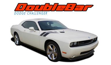 CHALLENGER DOUBLE BAR : 2008 2009 2010 2011 2012 2013 2014 2015 2016 2017 2018 2019 2020 2021 Dodge Challenger Hood to Fender Stripes Hash Decal Lemans Vinyl Graphic Striping Kit (VGP-1613)
