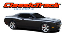 CLASSIC TRACK : 2008 2009 2010 2011 2012 2013 2014 2015 2016 2017 2018 2019 Dodge Challenger Upper Door Accent Vinyl Graphic Striping Decal Stripe Kit (VGP-1468.1645)