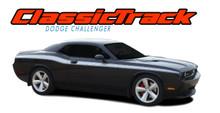 CLASSIC TRACK : 2008 2009 2010 2011 2012 2013 2014 2015 2016 2017 2018 2019 2020 2021 Dodge Challenger Upper Door Accent Vinyl Graphic Striping Decal Stripe Kit (VGP-1468.1645)