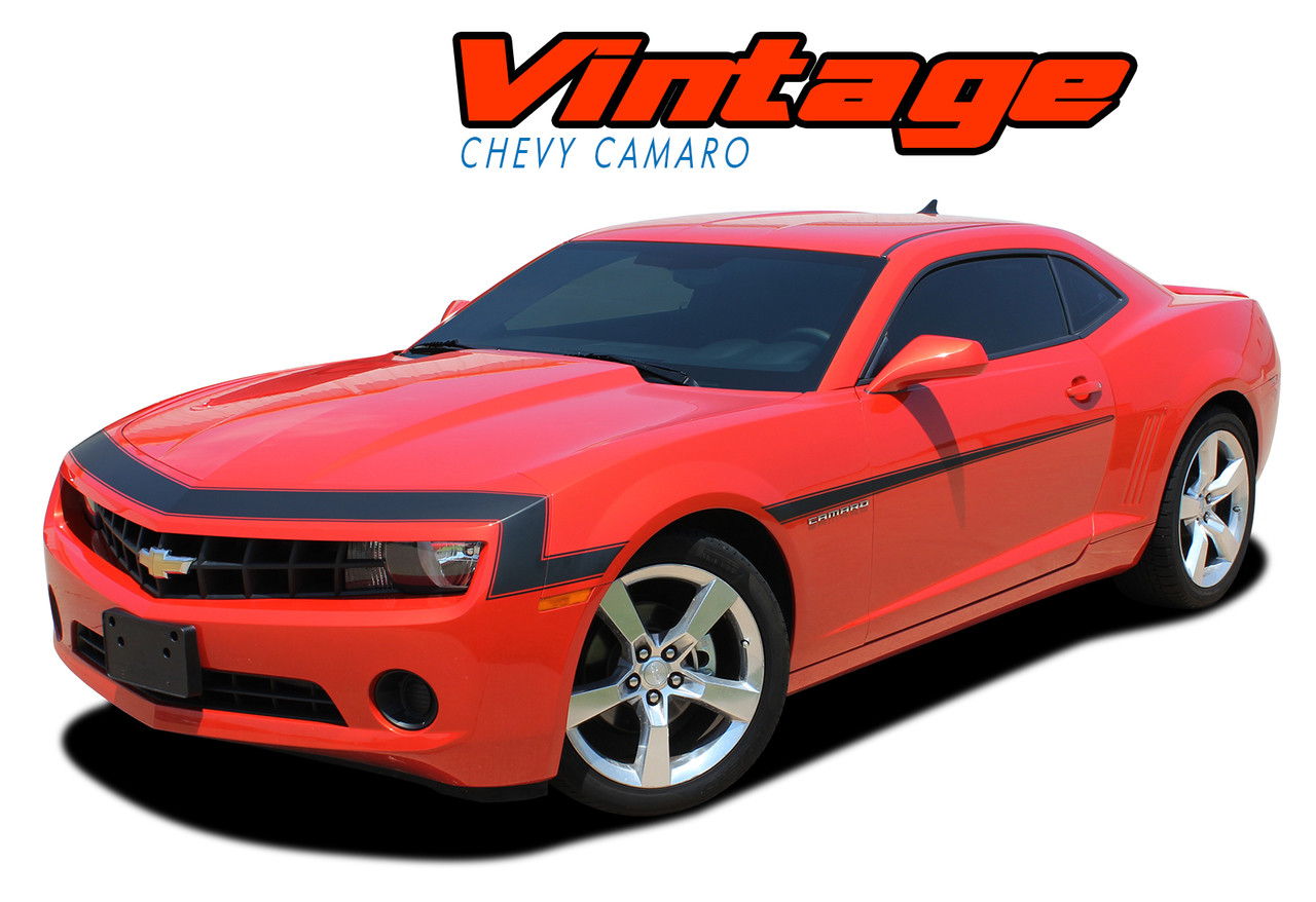 VINTAGE : 2010-2013 Chevy Camaro 1968 Style Nose Front Fascia Vinyl  Graphics Stripe Decal Kit
