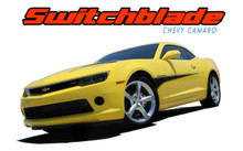 SWITCHBLADE : 2010 2011 2012 2013 2014 2015 Chevy Camaro Door Side Spears Hood Spikes Striping Vinyl Graphics Decals Kit (VGP-2961)