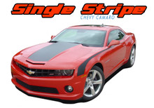 SINGLE STRIPE : 2010 2011 2012 2013 Chevy Camaro Factory OEM Style Wide Hood Striping Trunk Rally Stripe Decal Kit (VGP-1523)