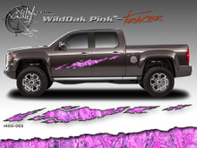 Wild Oak Pink Wild Wood Camouflage : TRACER Body Side Vinyl Graphic 9 inches x 96 inches (ILL-1400.053)