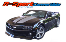 R-SPORT CONVERTIBLE : 2011 2012 2013 2014 2015 Chevy Camaro Factory OEM Style Rally Racing Stripes Vinyl Graphics Kit (VGP-1659.2584)