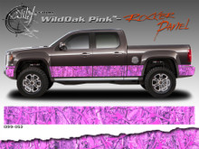 Wild Wood Camouflage : Lower Rocker Panel Graphics Kit 12 inch x 12 foot per side (ILL-1399.050.051.053.054)