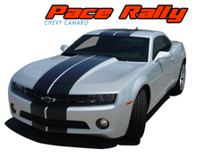 "PACE RALLY : 2010 2011 2012 2013 Chevy Camaro Indy Style 10"" Racing Stripes Bumper to Bumper Vinyl Graphics Decal Kit (VGP-1581.1582)"
