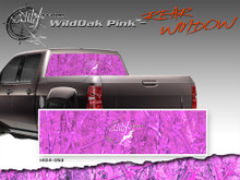"""Wild Oak Pink Wild Wood Camouflage : Rear Window """"See Through"""" Film Graphic Kit 24 inches x 65 inches (ILL-1404.053)"""
