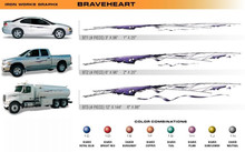 BRAVEHEART Universal Vinyl Graphics Decorative Striping and 3D Decal Kits by Sign Tech Media, Inc. (STM-BT)