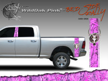 Wild Oak Pink Wild Wood Camouflage : Bed Side Rally with Deer Skull 12 inches x 42 inches (ILL-1410.053)