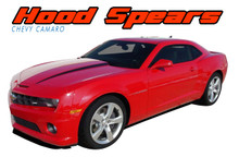 HOOD SPEARS : 2010 2011 2012 2013 2014 2015 Chevy Camaro Hood Spike Striping Vinyl Graphic Decal Set (VGP-1547)