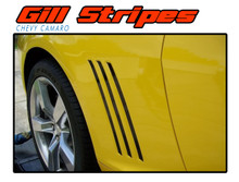 GILL STRIPES : 2010 2011 2012 2013 2014 2015 Chevy Camaro Side Vent Accent Vinyl Stripe Decals Set (VGP-1508)