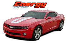 ENERGY : 2010 2011 2012 2013 2014 2015 Chevy Camaro SEMA Style Hood Trunk Stripes Vinyl Graphic Accent Decals (VGP-1692)