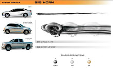 BIG HORN Universal Vinyl Graphics Decorative Striping and 3D Decal Kits by Sign Tech Media, Inc. (STM-BH)