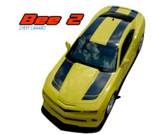 BEE 2 : 2010-2015 Chevy Camaro Bumblebee Tranformers Style Hood Racing Stripes Vinyl Graphics Kit (VGP-1686)