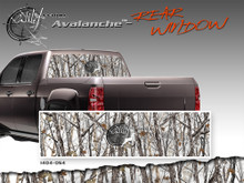 "Avalanche Wild Wood Camouflage : Rear Window ""See Through"" Film Graphic Kit 24 inches x 65 inches (ILL-1404.054)"