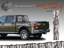 Avalanche Wild Wood Camouflage : Bed Side Rally with Logo 12 inches x 42 inches (ILL-1402.054)