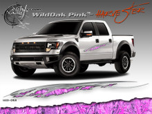 Wild Oak Pink Wild Wood Camouflage : HARVESTER Body Side Vinyl Graphic 9 inches x 96 inches (ILL-1401.053)