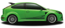AMBUSH : Automotive Vinyl Graphics - Universal Fit Decal Stripes Kit - Pictured with TWO DOOR HATCHBACK (ILL-848)