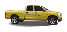 AFTERBURNER : Automotive Vinyl Graphics - Universal Fit Decal Stripes Kit - Pictured with DODGE RAM (ILL-DM0101)