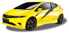 ADRENALINE : Automotive Vinyl Graphics - Universal Fit Decal Stripes Kit - Pictured with HONDA CIVIC (ILL-903)