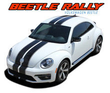 BEETLE RALLY : Volkswagen Beetle Complete Bumper to Bumper Rally Racing Stripes Vinyl Graphic Decal Kit (VGP-3041.2.3)