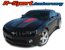 R-SPORT ANNIVERSARY : 2010 2011 2012 2013 2014 2015 Chevy Camaro 45th Anniversary Style Hood Rally Racing Stripes Trunk Vinyl Graphics Decals Kit (VGP-1719.2525)