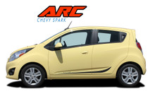 ARC : 2013 2014 2015 2016 Chevy Spark Lower Rocker Panel Vinyl Graphic Stripe Decals Kit (VGP-2220)