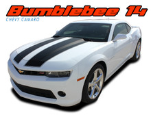 BUMBLEBEE 14 : 2014-2015 Chevy Camaro Transformers Style Hood Vinyl Graphics Racing Stripes Kit for V6 Coupe Models (VGP-2732.33)