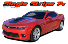 SINGLE STRIPE 14 : 2014-2015 Chevy Camaro Factory OEM Style Wide Hood Striping Trunk Rally Stripe Decal Kit (VGP-2436.37.38)