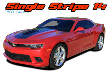 SINGLE STRIPE 14 : 2014-2015 Chevy Camaro Factory OEM Style Wide Hood Striping Trunk Rally Stripe Decal Kit (VGP-2436.37.38)
